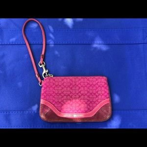 Coach Small Pink CC Coin Wallet